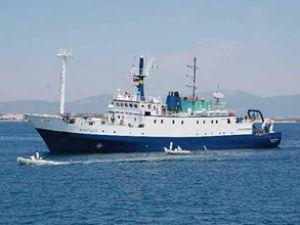 Araştırma gemisi Nautilus, Didim'e geldi
