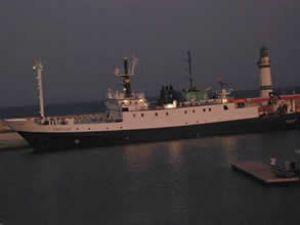 Titanik'in batığını bulan gemi Didim'de