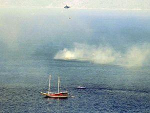 Marmaris'te tur teknesinde yangın!