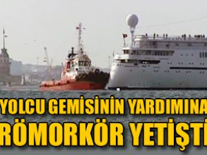 Arıza yapan gemiye römorkör yardımı