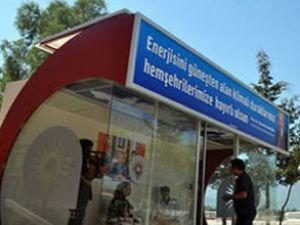 Antalya'da klimalı otobüs durakları