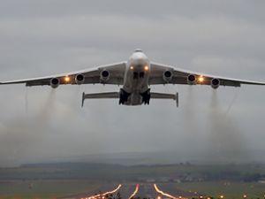 Esenboğa'nın dev misafiri Antonov An-225
