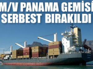 Korsanlar M/V Panama'yı serbest bıraktı