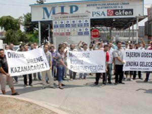 Mersin Limanı'nda işçi eylemi hala sürüyor