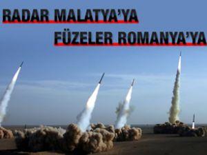 Radar Malatya'ya füzeler Romanya'ya