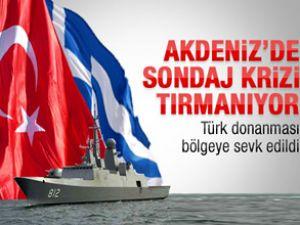 Türk donanması Akdeniz'e sevk edildi