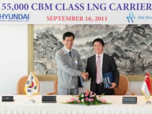 HHI, BW Maritime'a LNG gemi inşa edecek
