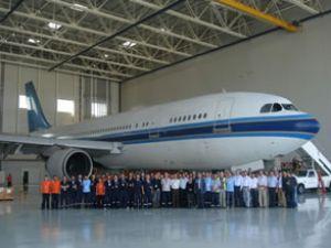 MNG Teknik ilk uçağı hangara soktu