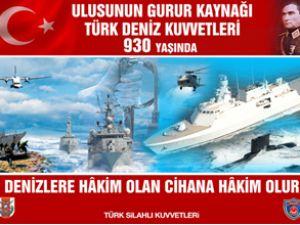 Türk Deniz Kuvvetleri 930 yaşında