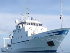 Urania gemisi Ege'de fayları inceleyecek