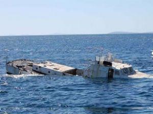 'SG 118' sahil güvenlik gemisi batırıldı