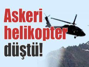 Nevşehir'de askeri helikopter düştü!