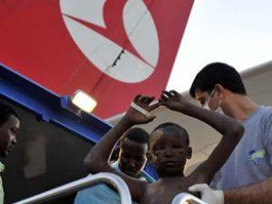 Somalili yaralılar özel uçakla getirildi