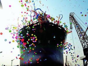 CS Candy gemisi törenle suya indirildi