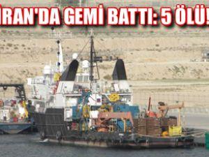 İran bayraklı platform destek gemisi battı!