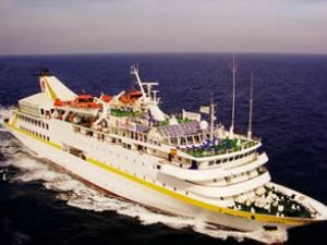 Yolcu gemisi Vistamar, Fethiye'ye geldi