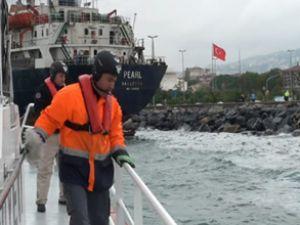 Kartal'da karaya vuran gemi kurtarıldı