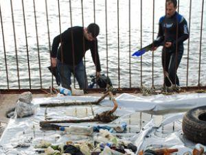 Borusan çalışanlarından dip temizliği