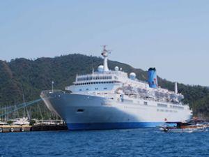 Alanya'ya denizden 30 bin turist geldi