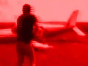 Polis aracı uçağı böyle durdurdu