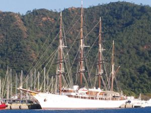 Sea Cloud Yelkenli gemisi Marmaris'te