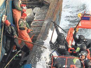 Çinli denizciler Sarı Deniz'de isyan çıkardı