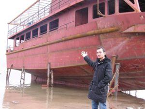 Malatya'da turistik geminin inşası sürüyor