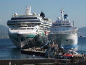 Alanya Limanı'na yolcu gemileri yanaştı