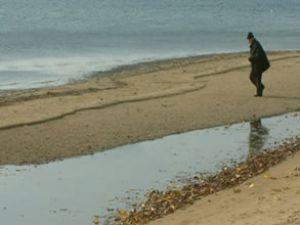 Balıkesir Erdek'te deniz 50 metre çekildi