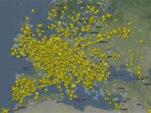 Avrupa hava sahasında yüzlerce uçak