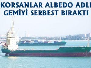 Korsanlar M/V Albedo'yu serbest bıraktı
