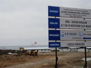 Ordu-Giresun Havaalanı'na dolgu çalışması