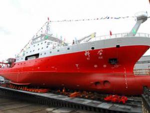 Çin, yeni araştırma gemisini suya indirdi