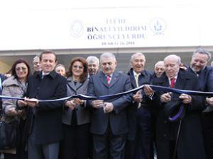 Binali Yıldırım Öğrenci Yurdu törenle açıldı