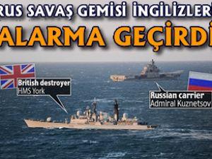 İngiltere'de Rus donanması gerginliği