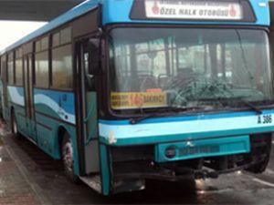 Küçükçekmece'de halk otobüsü 3 aracı biçti