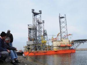 Petrol platformu Giresun Limanı'na geldi