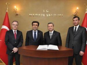 Türkmenistan heyeti Mersin'i ziyaret etti