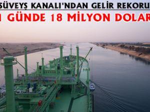 Süveyş Kanalı tarihinin en yüksek geliri