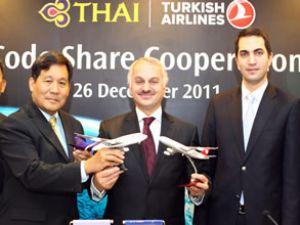 THY ve Tayland'dan codeshare anlaşması
