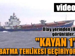 Kargo gemisi batma tehlikesi geçirdi