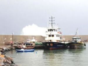 Fırtına, Gazipaşa'da konteynerleri uçurdu