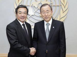 Koji Sekimizu, Ban Ki-Moon ile görüştü
