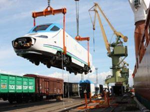 Tren vagonları Asya'ya gemiyle geçecek