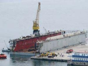 İnebolu'da gemi onarım havuzu batırıldı
