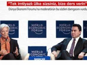 Babacan'dan Davos'ta 'ders' istediler
