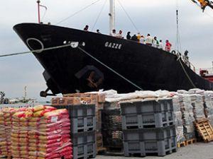 9 konteyner ilaç taşıyan gemi Gazze'de