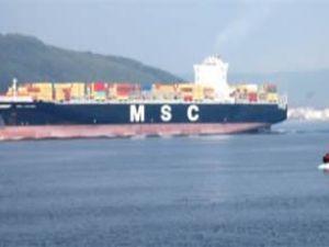 Çanakkale Boğazı'ndan MSC Luciana geçti