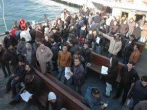Gençler gemi adamı olmak için yarıştı