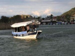 LPG'li tekne Dalyan'da görücüye çıktı
